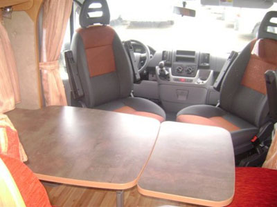 Table camping car challenger meuble de salon contemporain - Pied de table pour camping car ...