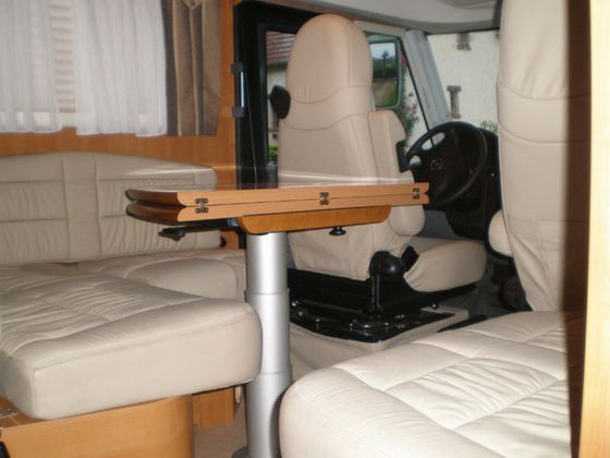 Table dinette camping car - Pied de table pour camping car ...