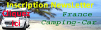 Inscription Newsletters France-Camping-Car